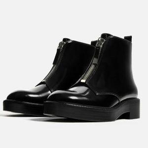 Zara Zip Up Moto Boots